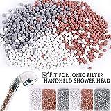 Paquete de 6 meses anti piedra caliza para la ducha, bolas de iones negativos para el cabezal de la ducha (ablandador de agua, filtro de spa), protege la piel y el cabello seco
