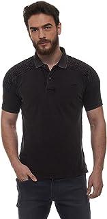 Royal Enfield Unbent Polo Charcoal T-Shirt (S) 38 cm(RLATSI000235)