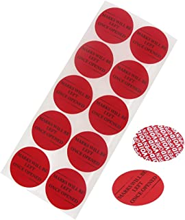 100pcs Tamper Evident Security Stickers,Solitary Walker Safety Prevent Opened Warranty Void Labels(Diameter 2