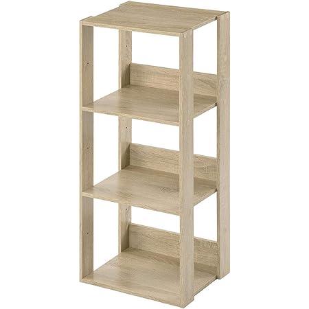 ぼん家具 フリーラック 収納ラック シェルフ 本棚 おしゃれ オープン 幅40cm オーク