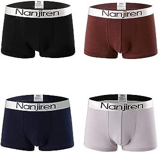Men's 4 Pack Comfortable Cotten Boxer Briefs Underwear for Men Size