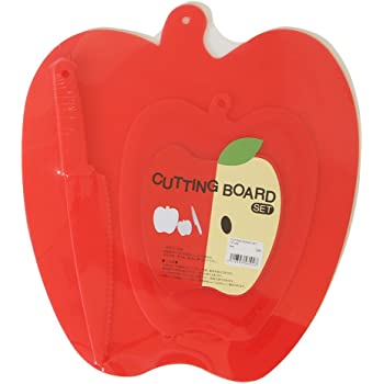 子ども包丁 ナイフ&カッティングボードセット レッド
