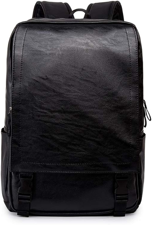BABIILUN Mann Rucksack Pu-Leder Mnner Tasche Weichen Griff Reisetaschen Offene Tasche Schultasche wasserdichte Mnnliche Ruckscke Reiverschluss Rucksack