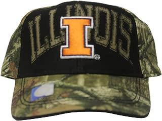 Rob'sTees Signatures University of Illinois Fighting Illini Camo/Bk College Dad Hat Baseball Cap