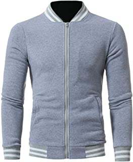 Mens Jackets, Autumn Winter Warm Casual Zipper Long Sleeve Jumper Jacket Coat Top Blouse