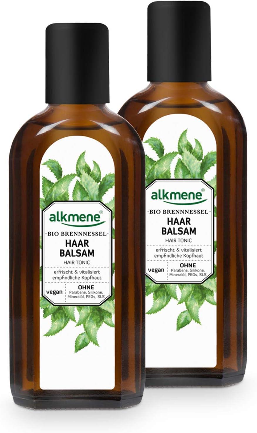 alkmene bálsamo capilar con ortiga orgánica - tónico capilar con provitamina B5 para el cuero cabelludo sensible y el cabello fino - cuidado capilar ...
