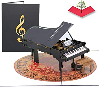 PopLife Grand Piano Pop Up Card for All Occasions - Happy Bi