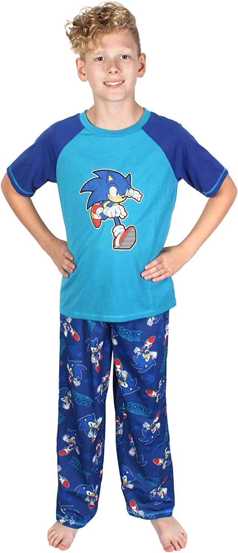 Sonic The Hedgehog Video Game Boys sale Sleev Piece Pajamas Short Two Max 73% OFF