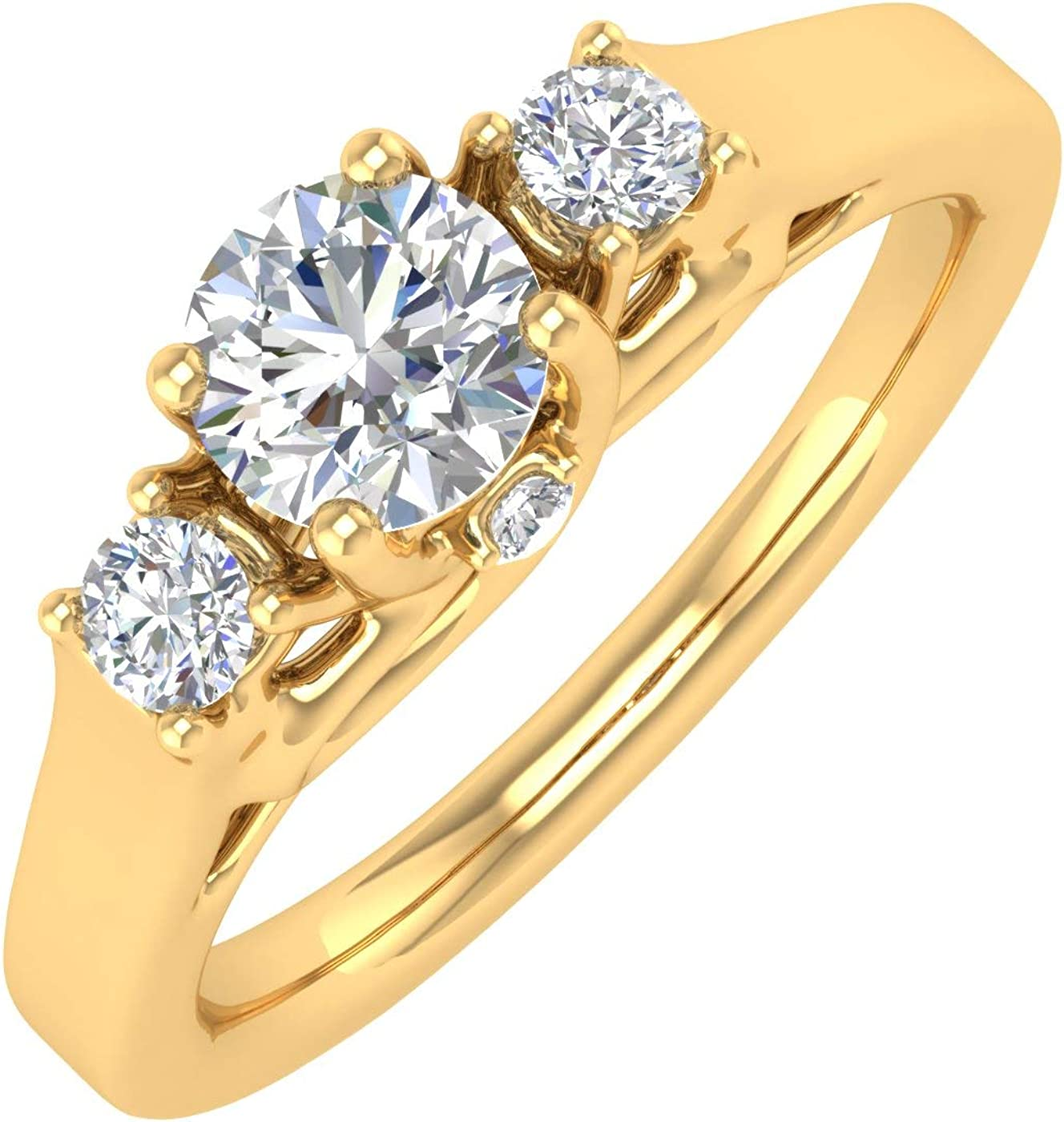 1 Max 45% OFF 2 Ranking TOP3 Carat 3-Stone Diamond Gold Ring in 10K Engagement