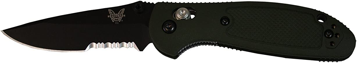 Benchmade - Mini Griptilian 556 Knife, Drop-Point Blade, All Around Functionality, Made in The USA