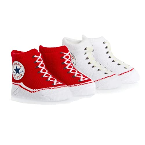 7a8c70822255ce Converse Baby Booties Set for Infant Boys and Girls (0-6 Months)