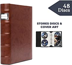 Bellagio-Italia Corona Caffe DVD Storage Binder - Stores Up to 48 DVDs, CDs, or Blu-Rays - Stores DVD Cover Art - Acid-Free Sheets