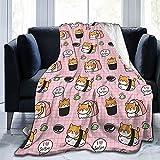 Manta de Dibujos Animados para Perros Wasabi Sushi Fleece Franela...