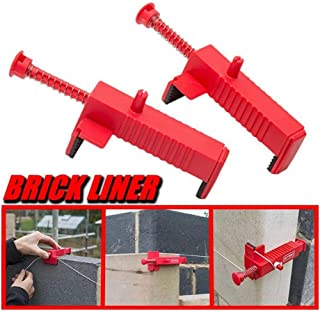 Iusun 2PCS Brick Liner Clamps Runner Wire Drawer Bricklaying Tool Fixer for Building Construction/Wall Builder Wire Rack/Fix The Clamps/Run The Line and Lay Course
