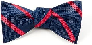 The Tie Bar Trad Stripe 100% Woven Silk Bow Tie