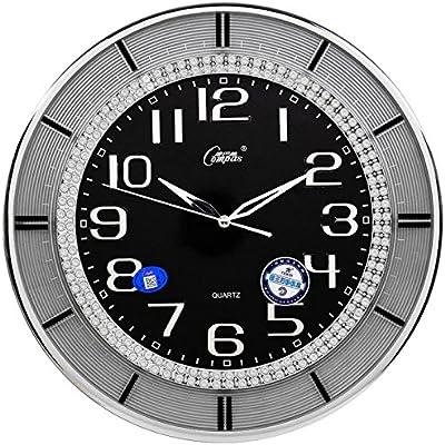 CLG-FLY Conference room living room clocks in the Office silent quartz clock,Black