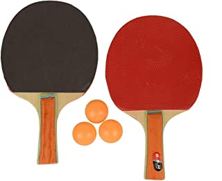 SUNLEY Table Tennis Starter Kit with Three Ping Pong Balls (Multicolour)