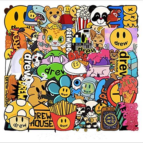 BUCUO Marea de Dibujos Animados Marca Pintada Graffiti Impermeable monopatín Maleta de Viaje teléfono móvil Equipaje Pegatina Lindos Juguetes para niñas y niños 50 Uds