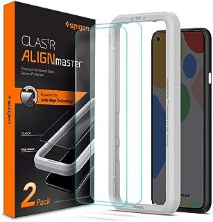 Spigen, 2 stuks, Screenprotector compatibel met Google Pixel 4a, AlignMaster, Frame voor eenvoudige installatie, Case frie...