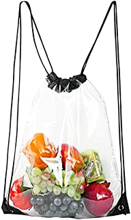 Clear Drawstring Bag Waterproof Stadium Drawstring Backpack