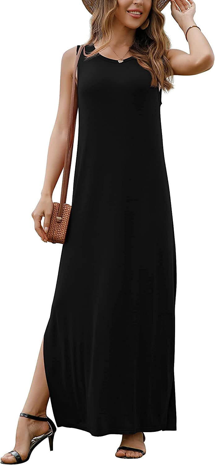 GRECERELLE Women's Casual Outlet ☆ Free Shipping Fit Long Sleeveless Dress Sp Fixed price for sale Racerback