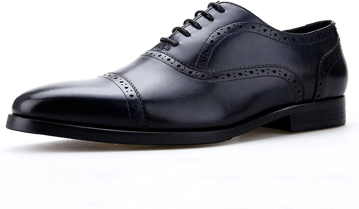 Men's leather shoes Small Square Head British Style Business Formal Wear Workplace