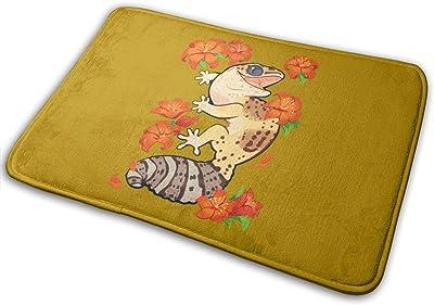 Fire Lily Gecko Carpet Non-Slip Welcome Front Doormat Entryway Carpet Washable Outdoor Indoor Mat Room Rug 15.7 X 23.6 inch