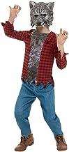 Smiffys 50789M - Disfraz de hombre lobo para niños (talla M, 7-9 años), color rojo