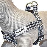 Paxleys - Pettorina per cani in tartan bianco e nero.