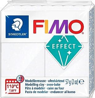 Staedtler - Fimo Effect - Pain Pte à Modeler 57 g Effet Pailleté Blanc