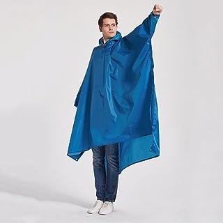 アウトドア必需品アウトドアクライミングハイキングレインコートスリーインナーワンピースカーテンパッディングクロス (Color : Blue)