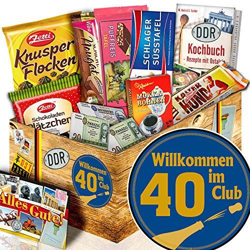 Wilkommen im Club 40 / Geschenke zum 40 Geburtstag / Schokoladen Box DDR