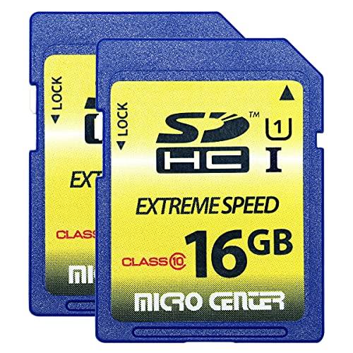 Micro Center 16GB Class 10 SDHC Flash Memory Card SD Card (2 Pack)