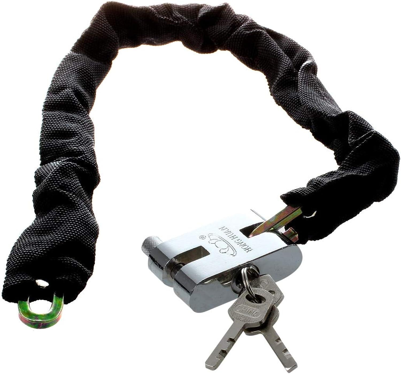 DYH65cm Reinforced Metal Heavy Motorbike Motorcycle Bicycle Chain Lock  (color  Black)