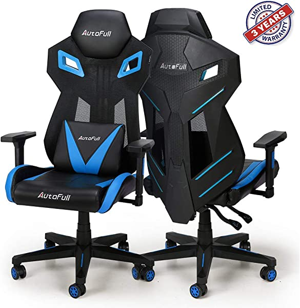 AutoFull Gaming Chair Video Game Chairs Mesh Ergonomic High Back Racing Style Computer Chair For Adults With Lumbar Support 1 Pack