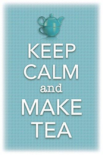 Schatzmix Blechschild Keep Calm & Make Tea Metallschild 20x30 cm Wanddeko Tin Sign Señal metálica, hojalata, Multicolor, 20 x 30 cm