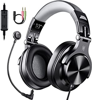 OneOdio ヘッドセット PC用 ヘッドホン マイク付き 40mmドライバー 有線 ゲーミングヘッドセット ノイズキャンセリング マイク付き 在宅勤務 テレワーク 会議通話 ボイスチャット PS4 / Xbox/スマホ A71-D