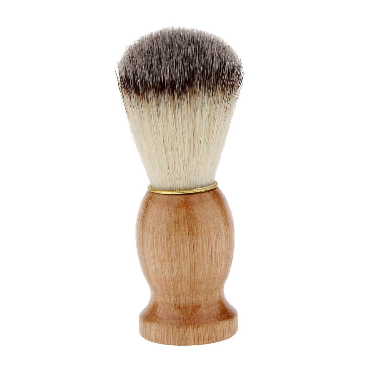 みぞれブリーフケース平方Kesoto シェービングブラシ コスメブラシ 木製ハンドル メンズ ひげ剃りブラシ クレンジング