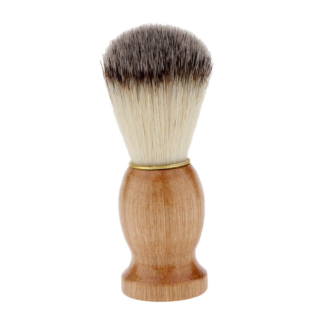 高層ビル霧深い湿気の多いKesoto シェービングブラシ コスメブラシ 木製ハンドル メンズ ひげ剃りブラシ クレンジング
