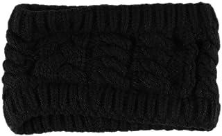 手作りの編み織りの髪のバンドヘッドバンド女性と女の子のためのヘアアクセサリー(ブラック)