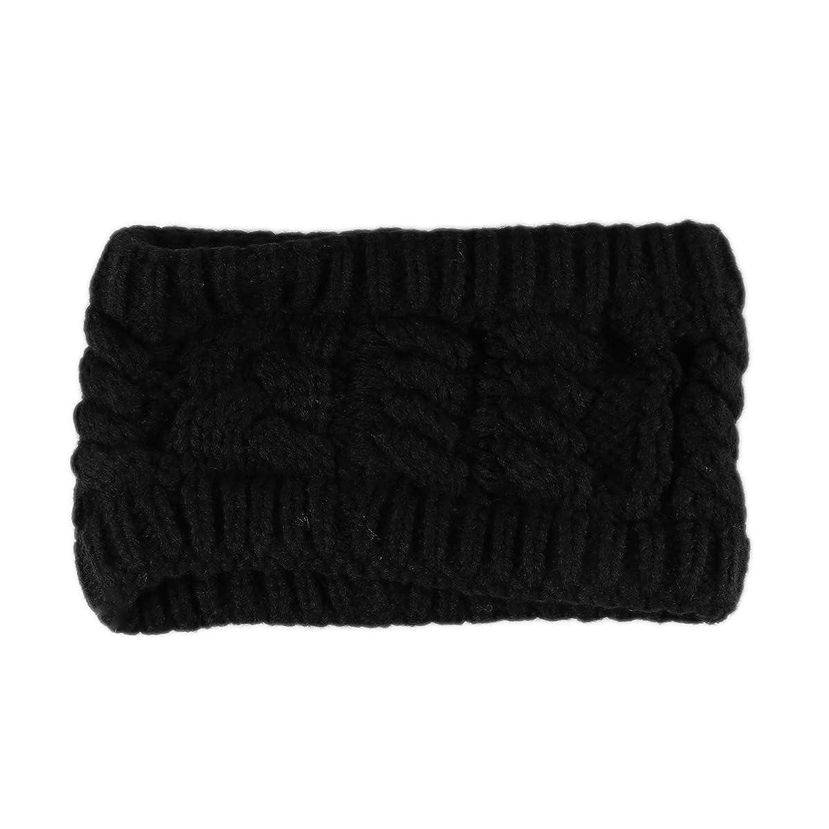 模倣長老系譜手作りの編み織りの髪のバンドヘッドバンド女性と女の子のためのヘアアクセサリー(ブラック)