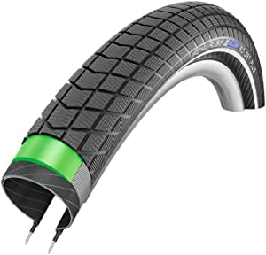 SCHWALBE Big Ben Plus HS 439 Cruiser Bike Tire with Wire Bead - 3mm Green Guard Protection and Reinforced Sidewalls