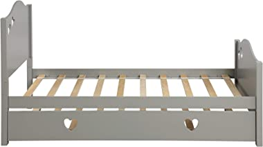 Altanius Kid Bed with Trundle, Loving Shape, Gray