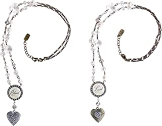DEMDACO Inspirational Antiqued 15.5 Inch Metal Women's Fashion Locket Necklaces Assorted Set of 2