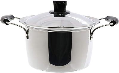 ベストコ ハイキャセロール ミラー仕上げ 22cm ネオ・プラティーヌ 吹きこぼれにくい ステンレス鍋 IH ND-6045
