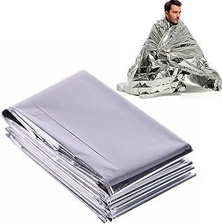 mantas reflectantes de supervivencia y para primeros auxilios Mantas t/érmicas de emergencia plateada 130*210cm plata .