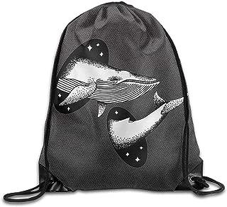 NIVANE Cetacean Dream Whale Pass Through Space Nylon Drawstring Canvas Bag For Teens
