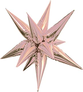 Jumbo Foil 12 Point Rose Gold Star Balloon