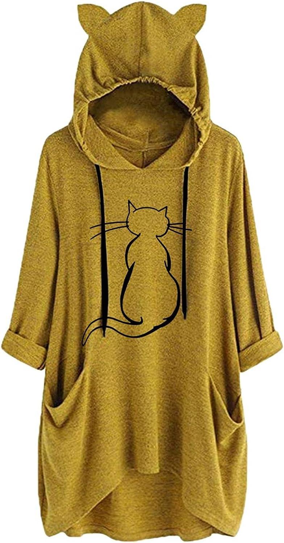 Womens Casual Hoodies Long Dedication Sleeve Sweatshirts Max 70% OFF Pullover Lo
