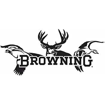 SHIPS FREE Browning Buckmark White Decal Official Window Deer 6 Inch 9099